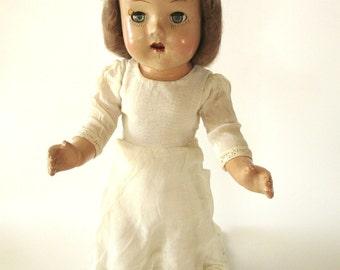 Antique Composition Doll, 1920s-1940s