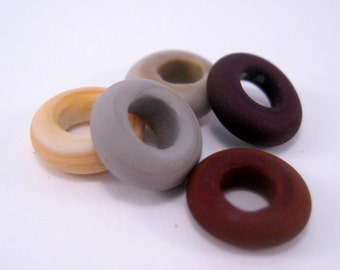 Big Hole Lampwork Bead Sliders for European Charm Bracelets Etched