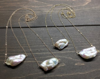 Statement Keshi Pearl Necklace