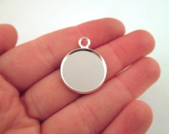 Silver plated 18mm bezel settings, pick your amount, B175