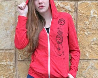 Gift For Women, Gift Sweatshirt, Women Hoodie, Zip Up Hoodie, Cute Funny Hoodie, Women Hedgehog Hoodie