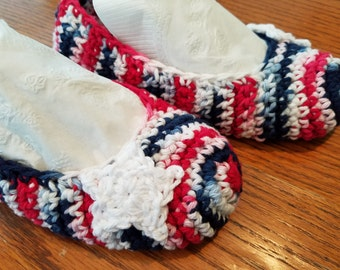 Slippers Red White And Blue USA Patriotic free shipping