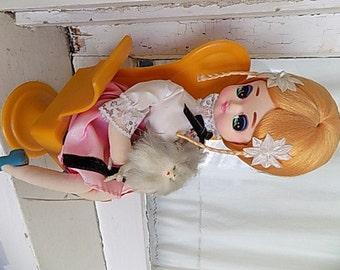 Vintage Pose Doll Made in Japan Musical Kawaii Pet Poodle