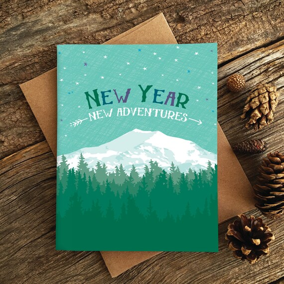 new year card set / boxed holiday cards / new adventures