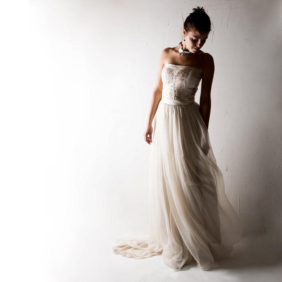 Sequin Wedding Dress: Wedding Dress Boho Wedding Dress Bridal Gown Sequin Wedding