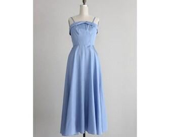 50s blue dress / 1950s party dress / vintage 50s dress