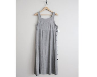 side button dress / tank dress / 90s dress