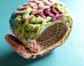 Crochet bracelet ooak