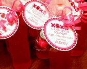 PRINTABLE Kiss and Squeeze Valentine Tags / Print Your Own Personalized Valentine Stickers for Chocolate Candy Kisses & Squeeze Drinks
