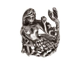 Mermaid Ring     silver gold jewelry seahorse starfish jewelry statement