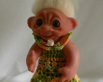 Variegated Shades of Green and Gold - 8 1/2 Inch TROLL Outfit