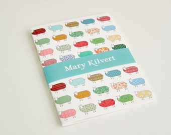 Small Colourful Sheep Pattern Notebook