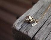 14k Solid GOLD Desert Treasure Succulent Necklace