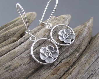 Handmade Buttercup Drops Sterling Silver Earrings