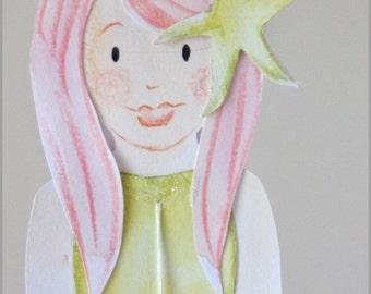 Handpainted Mermaid Baby Mobile Nursery Mobile