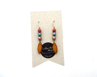 Beaded Earrings // Dangle Earrings // Glass Earrings // Classic Earrings // Tear Drop Earrings // Gift for Women // Jewelry Gift