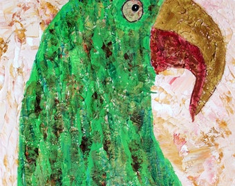 Parrot Art, Cave Painting Art, Grand Cave Parrot and Hummingbird Print. Lost Cave Paintings of Saint Paul