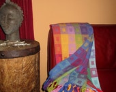 Handwoven Small Throw, Lap Blanket, Snuggle Blanket (or even large shawl/wrap)