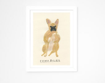 French Bulldog || Original Painting || Dog A - Z project