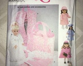 Winter Clearance Uncut Simplicity Crafts Pattern No. 5421 - 18 inch AG Doll Clothes & Accessories circa 2003