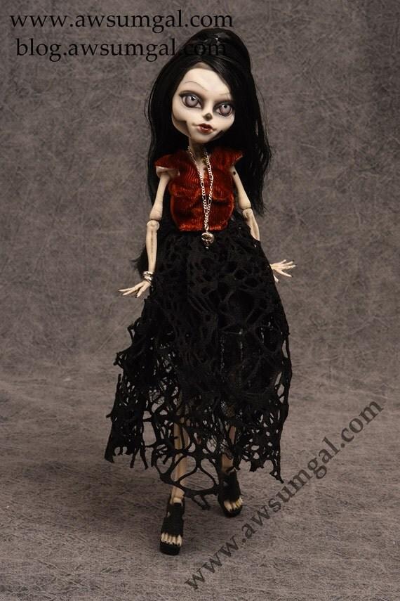 Moana - OoAK Monster High Skelita Repaint and Redress by awsumgal
