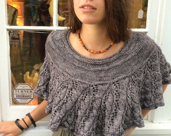 knitting pattern pdf download Embarrassment of Leaves Capelet