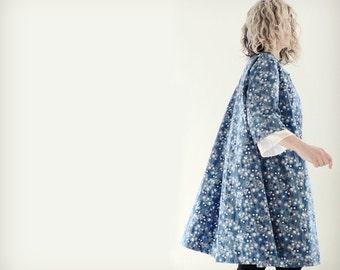 Liberty of London Blue Flowery Cotton Coat