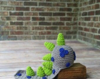 Dinosaur - Dragon Hat Prop - Baby Costume - Infant Hat - Halloween Costume - Animal hat - Newborn Photography Prop - Shower Gift
