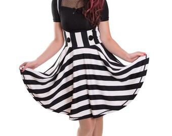 VERONIQUE_04A Overdress Black/White Stripes LIMITED