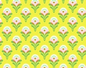 SALE fabric, Floral fabric, Fabric for Girl, Baby Quilt, Heather Bailey Clementine fabric- Buttercup in Yellow, You choose the cut