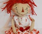 Handmade Raggedy Ann Doll - Cherry