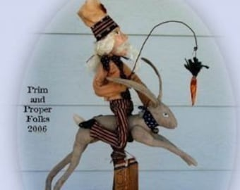 Uncle Sam Tames a Jack Rabbit Mailed Pattern
