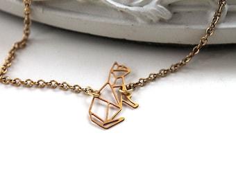 Golden cat kitty kitten bracelet filigree geometric