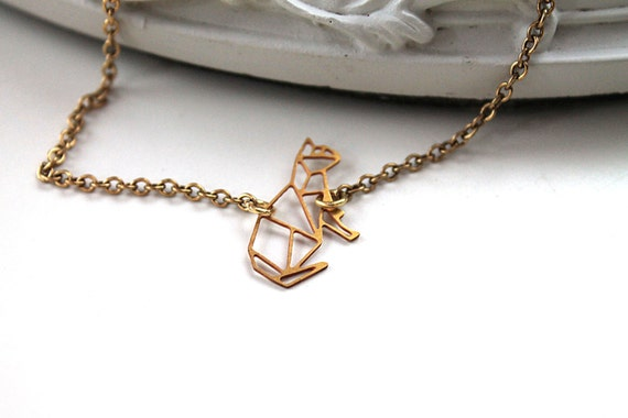 Golden cat kitty kitten bracelet filigree geometric
