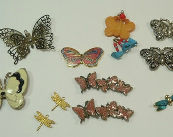 Butterfly Bits And Baubles Embelishments For Jewelry Making, Paper Crafting, Scrapbooking