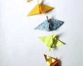 Golden Sky origami paper art string