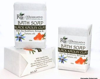 Black Kaolin Soap for Clear Skin Palm Free