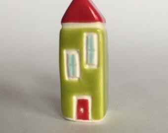 Little Ceramic House Miniature Clay House