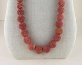 Necklace of 16mm Sponge Coral, 30 inches long