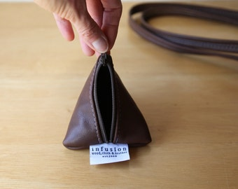 Leather Coin Purse // Tetra Pouch