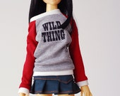 Wild thing relaxed fit jersey top dress - slim mini MSD BJD clothes