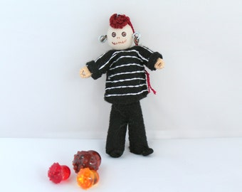 Halloween Decoration Young bones boy Felt Art Doll ornament, Felt Holiday Decorations