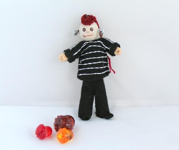 Halloween Decoration Young bones boy Felt Art Doll ornament