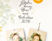 2016 Calendar & Garden Honey Bee Print