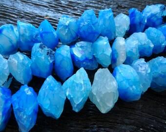 raw blue chalcedony beads, rough chalcedony beads, blue chalcedony rondelles, blue stone beads