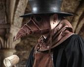 Stiltzkin leather plague doctor mask in light brown