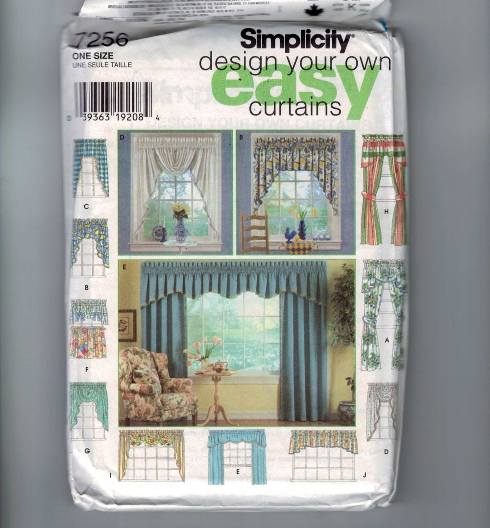 Craft Sewing Pattern Simplicity 7256 Home Decor Design Your