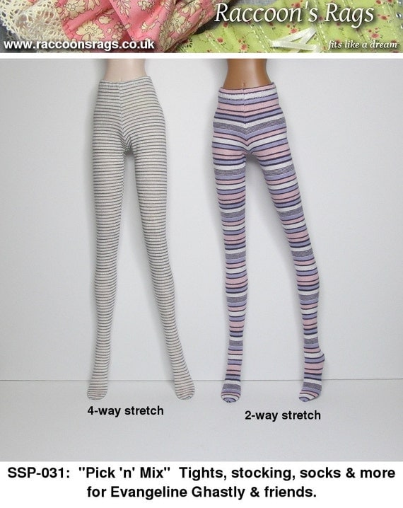 STRAIGHTFORWARD SEWING Pattern SSP-031: Tights, stockings, socks + more, for Evangeline Ghastly.