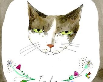 Pet portraits, custom illustration