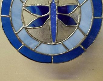 Blue Dragonfly Suncatcher Plate